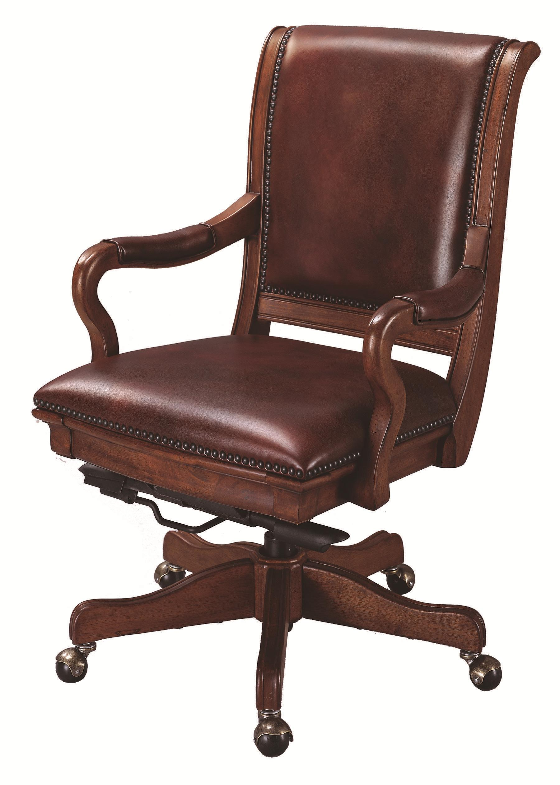 desk chair knees will folding covers fit banquet chairs aspenhome richmond leather upholstered caster office