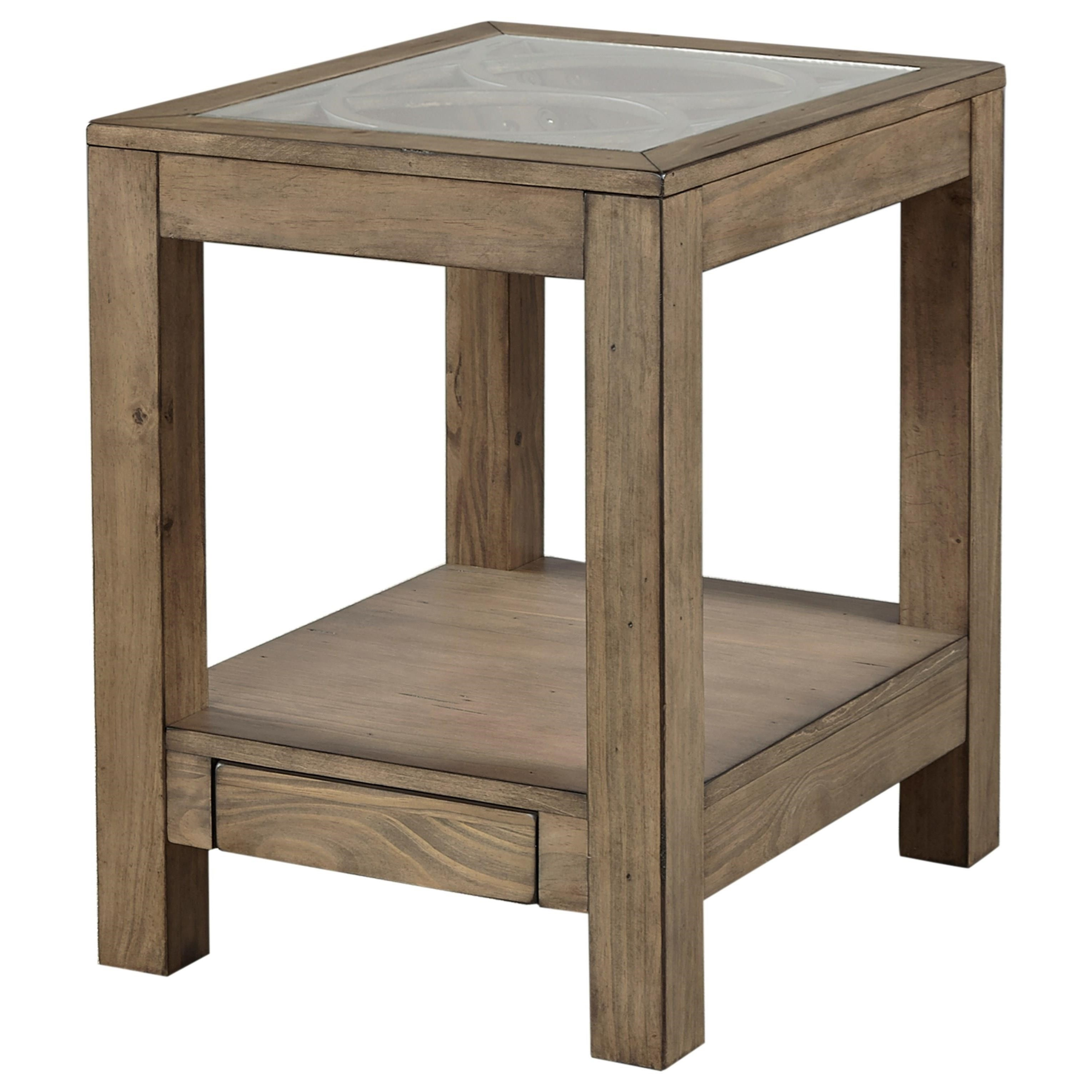 chair side tables with storage bedroom chaise aspenhome tildon i56 9135gl chairside table power