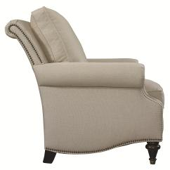 Bassett Furniture Chairs Solid Wood Dining Room Oxford Traditional Accent Chair With Nailhead Trim