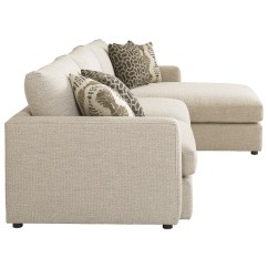Right Arm Facing Sofa Left Chaise Vintage Camel Back Bassett Allure Contemporary Sectional With