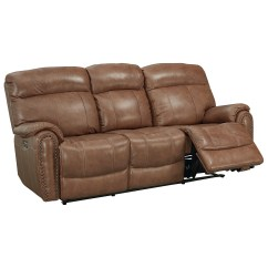 Caruso Leather 5 Piece Power Motion Sectional Sofa Wicker Cushion Covers Bassett Bridgeport Club Level Match