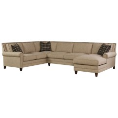 One Seat Sofa With Chaise Queen Size Beds Bassett Harlan Sectional 5 Seats 1 Is A