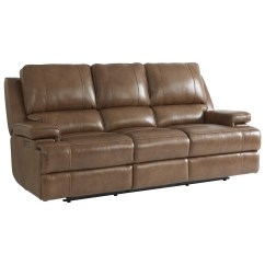 Triple Reclining Sofa How Much To Reupholster A Uk Bassett Parker Club Level Double With Power