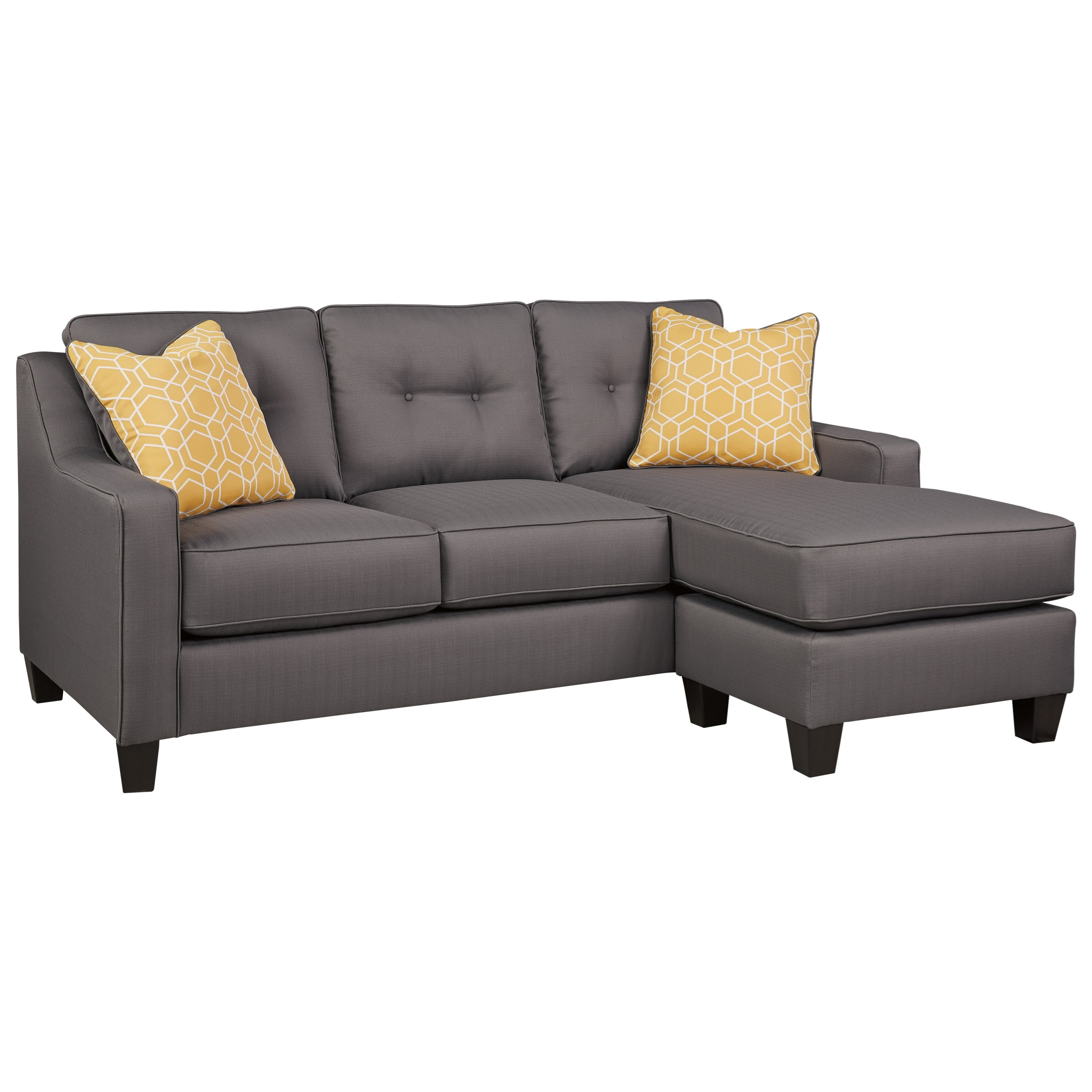 sleeper sofa chaise sectional my art aberdeen benchcraft aldie nuvella 6870268 queen