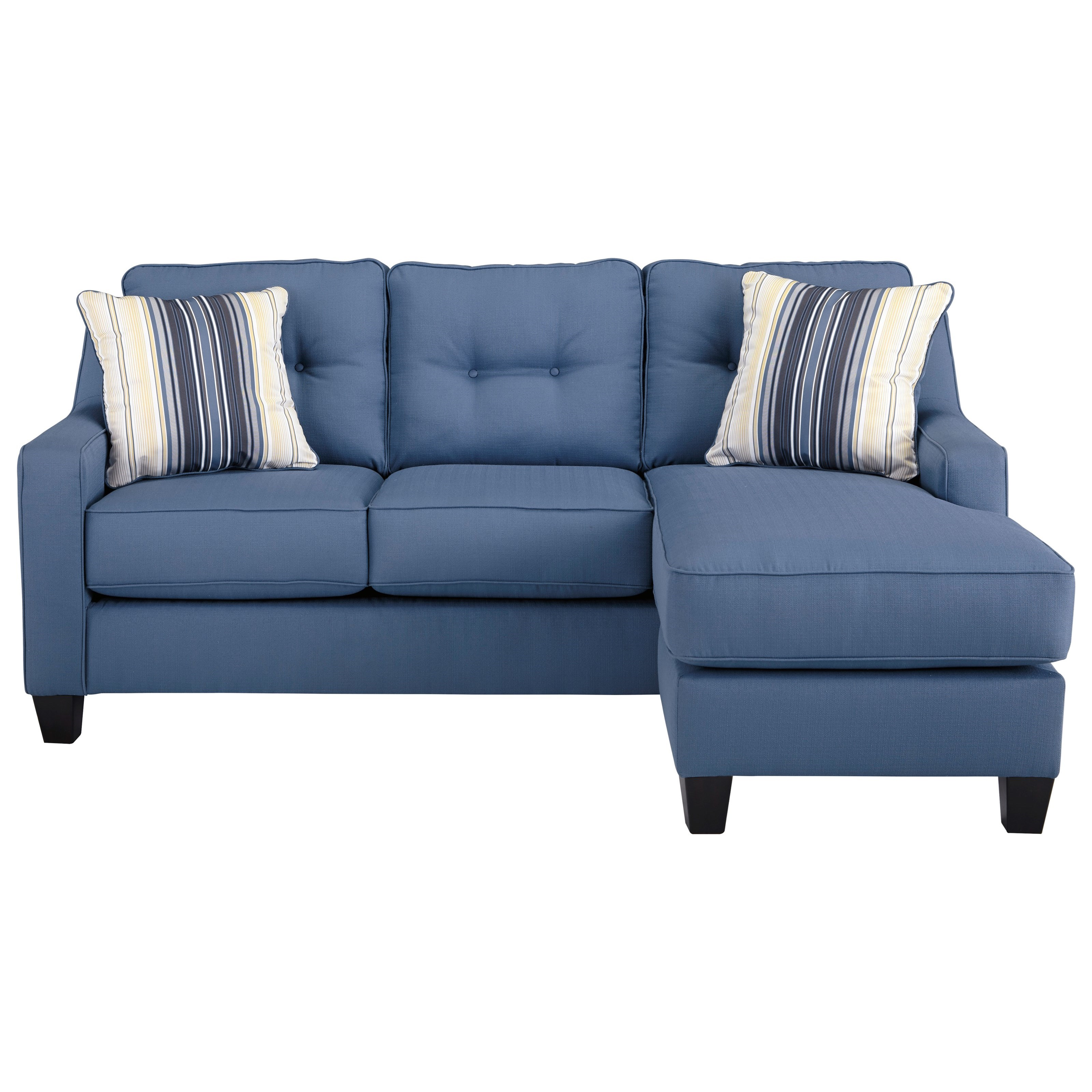 sleeper sofa chaise sectional interio madison benchcraft aldie nuvella queen in