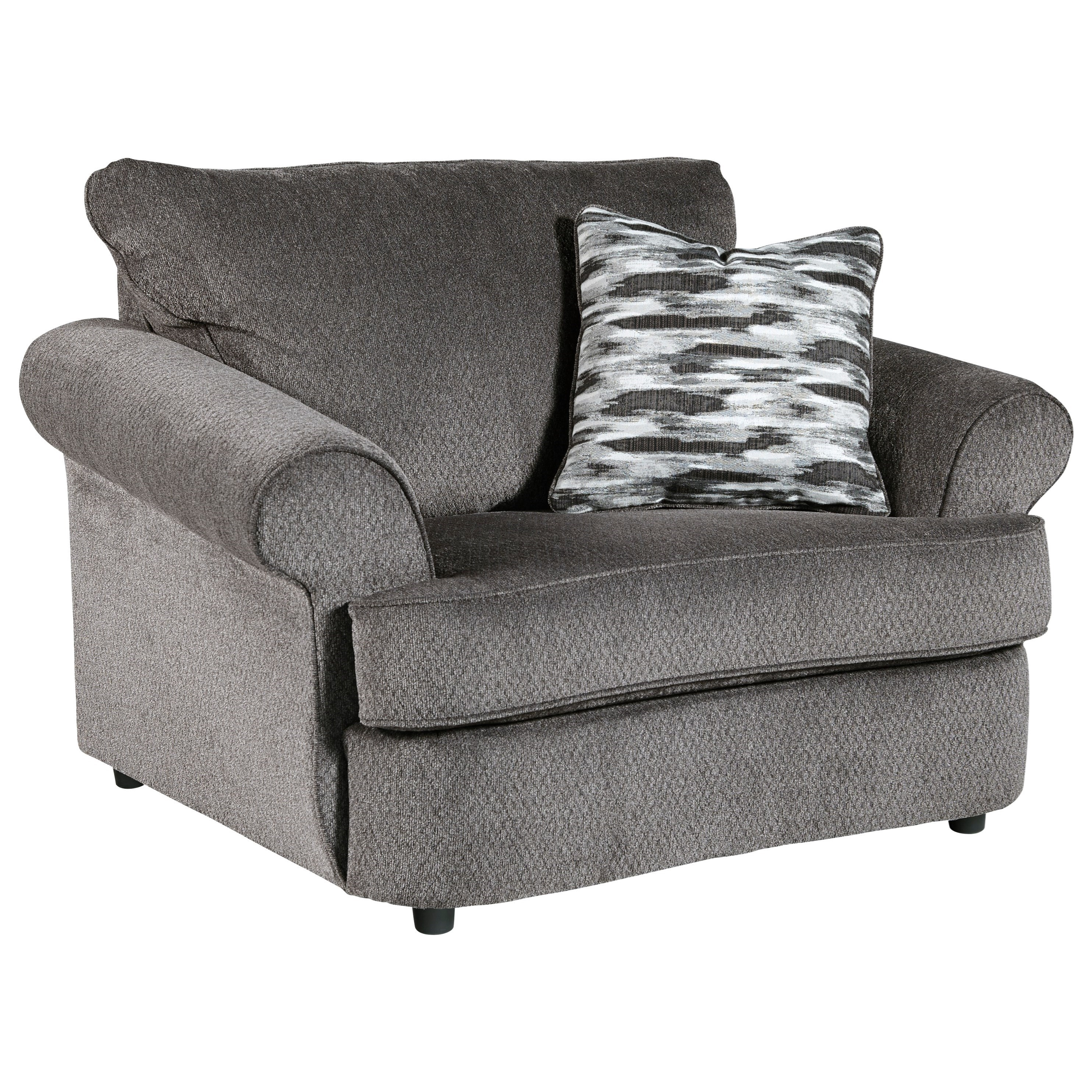 Gray Oversized Chair Benchcraft By Ashley Allouette Chair And A Half In Gray
