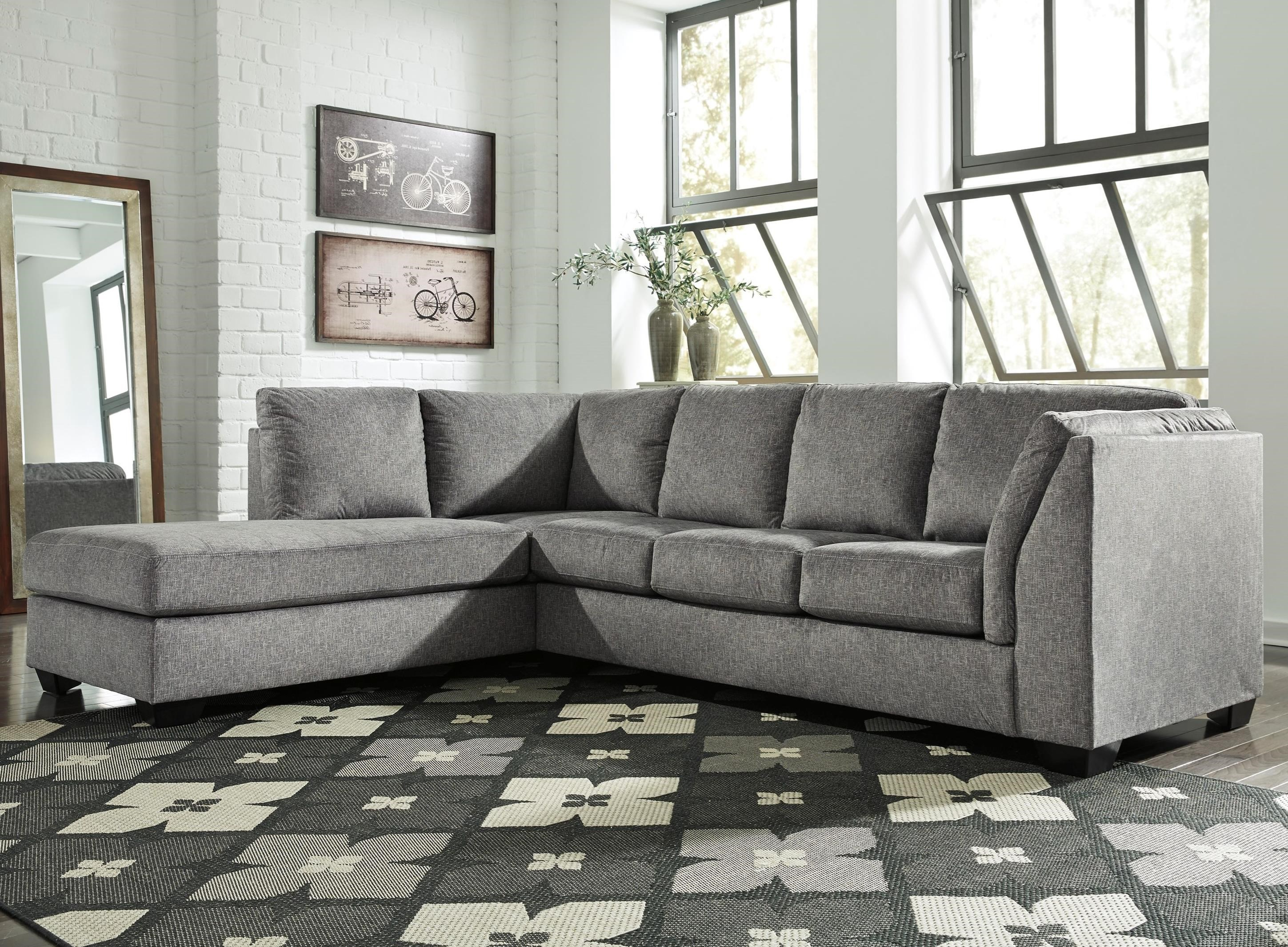 jamestown 2 piece sofa and loveseat group in gray bed into bunk beds benchcraft belcastel sectional with left chaise