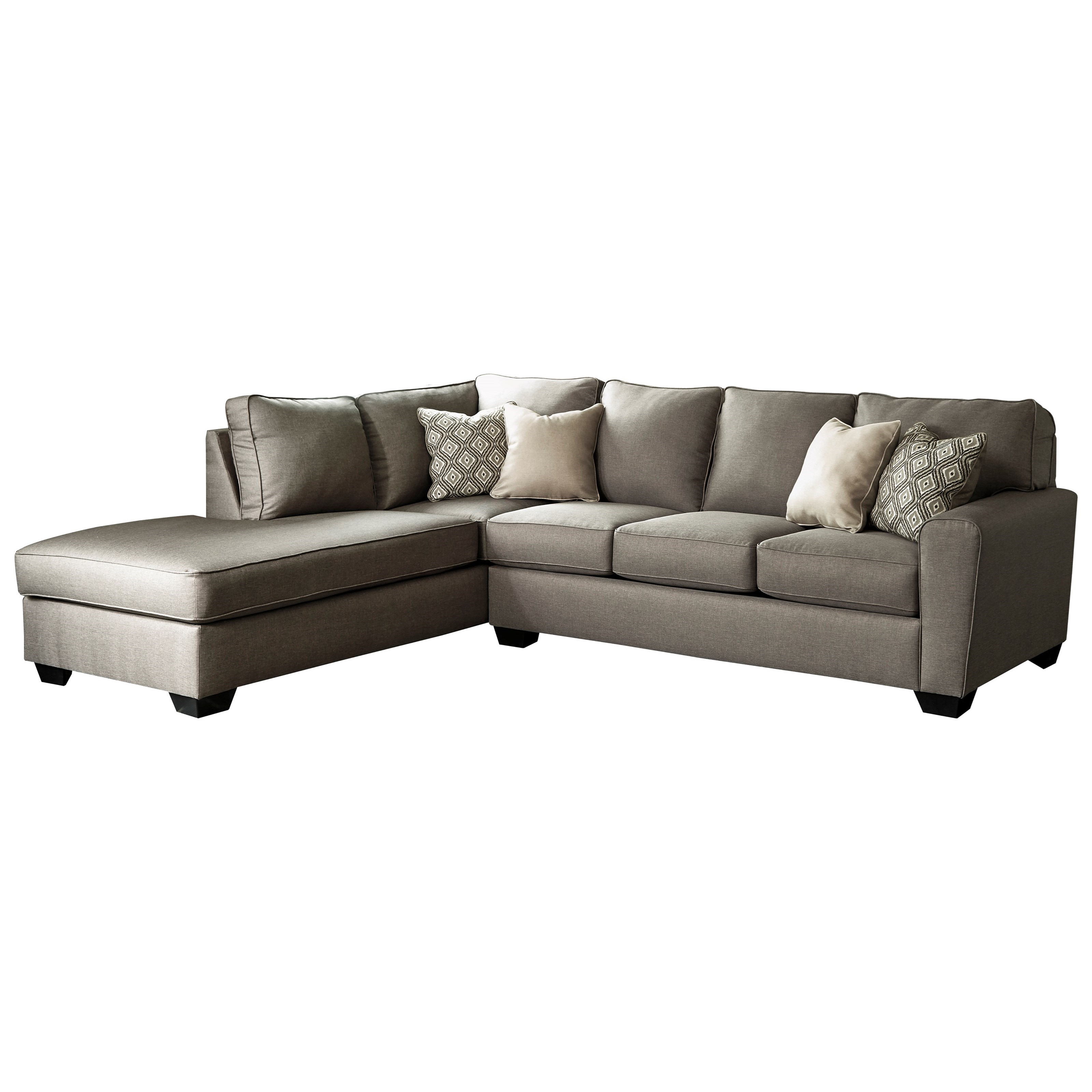 left chaise sofa sectional slipcover leather victorian benchcraft calicho contemporary with