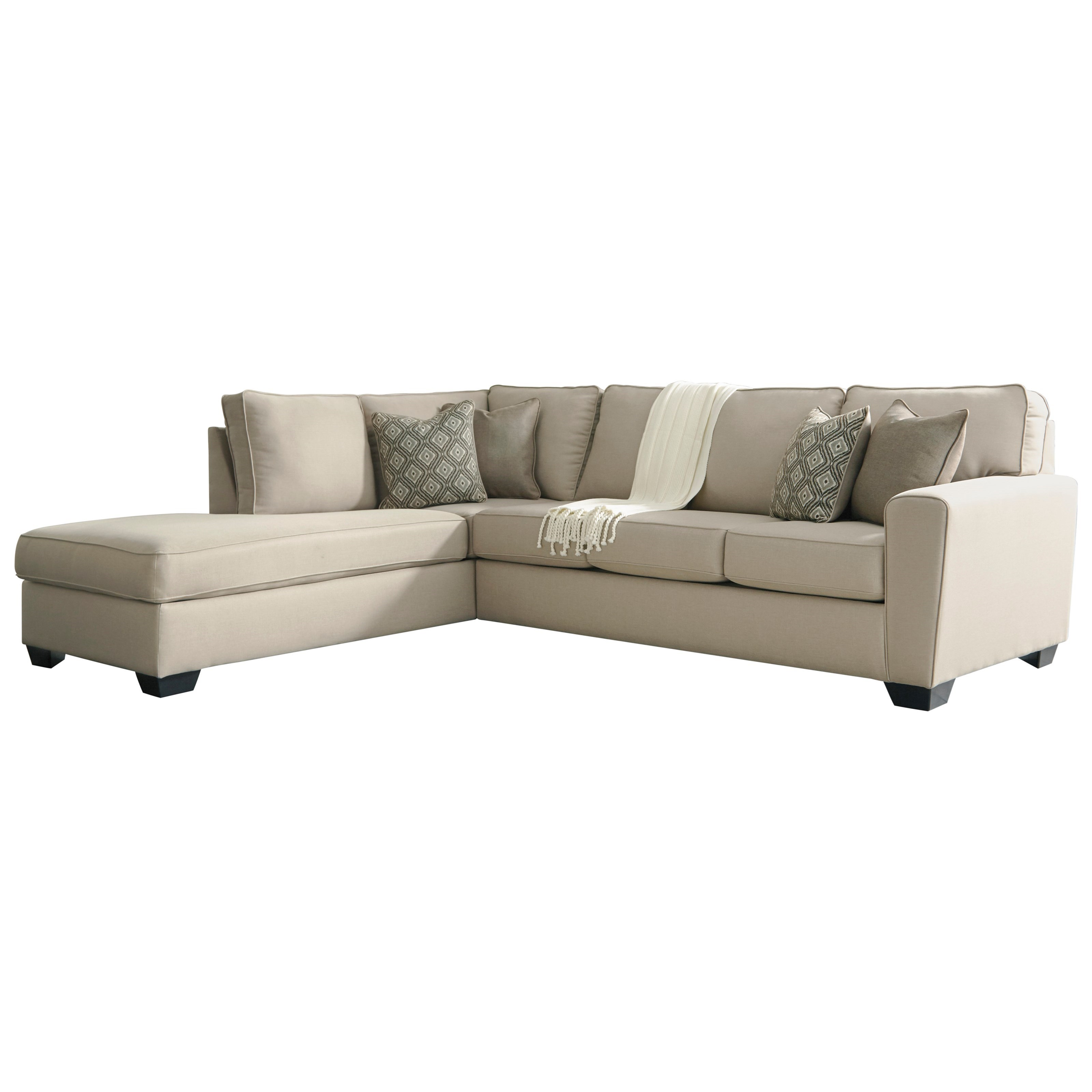 left chaise sofa sectional slipcover fundas para sofas en lima peru benchcraft calicho contemporary with