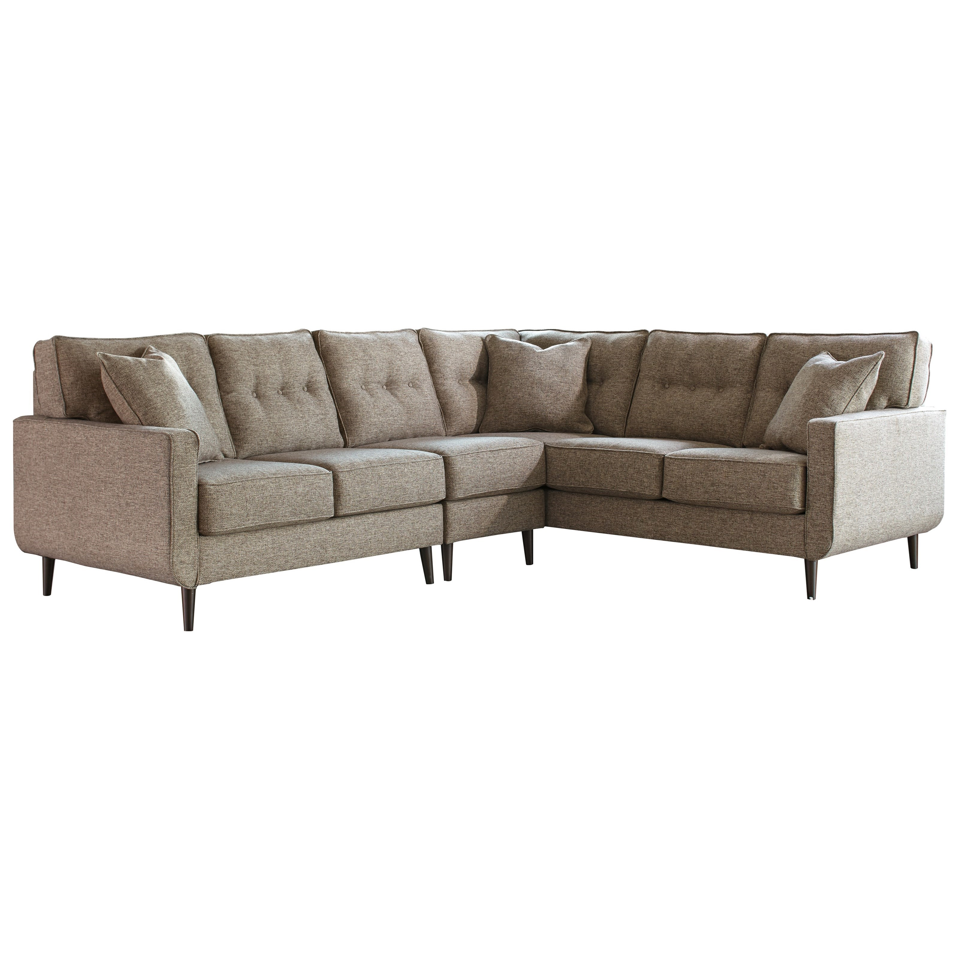 ashley furniture modern sofa king bueno wine review benchcraft by dahra mid century 3 piece