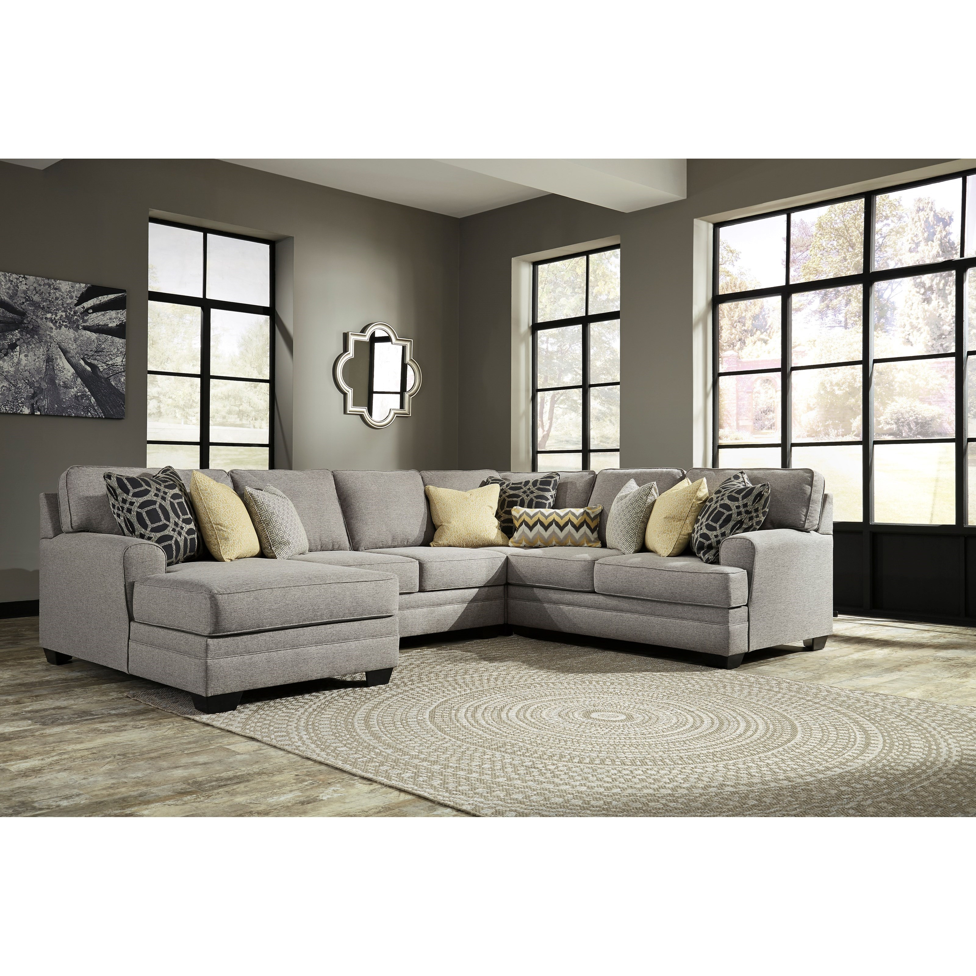 liberty 2 piece sofa and motion loveseat group in grey outdoor furniture wicker sectional benchcraft cresson contemporary 4 with