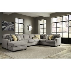 4 Piece Recliner Sectional Sofa 2 Seater Cushion Covers Benchcraft Cresson Contemporary With