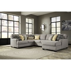 4 Piece Recliner Sectional Sofa Tall Back Reclining Benchcraft Cresson Contemporary With