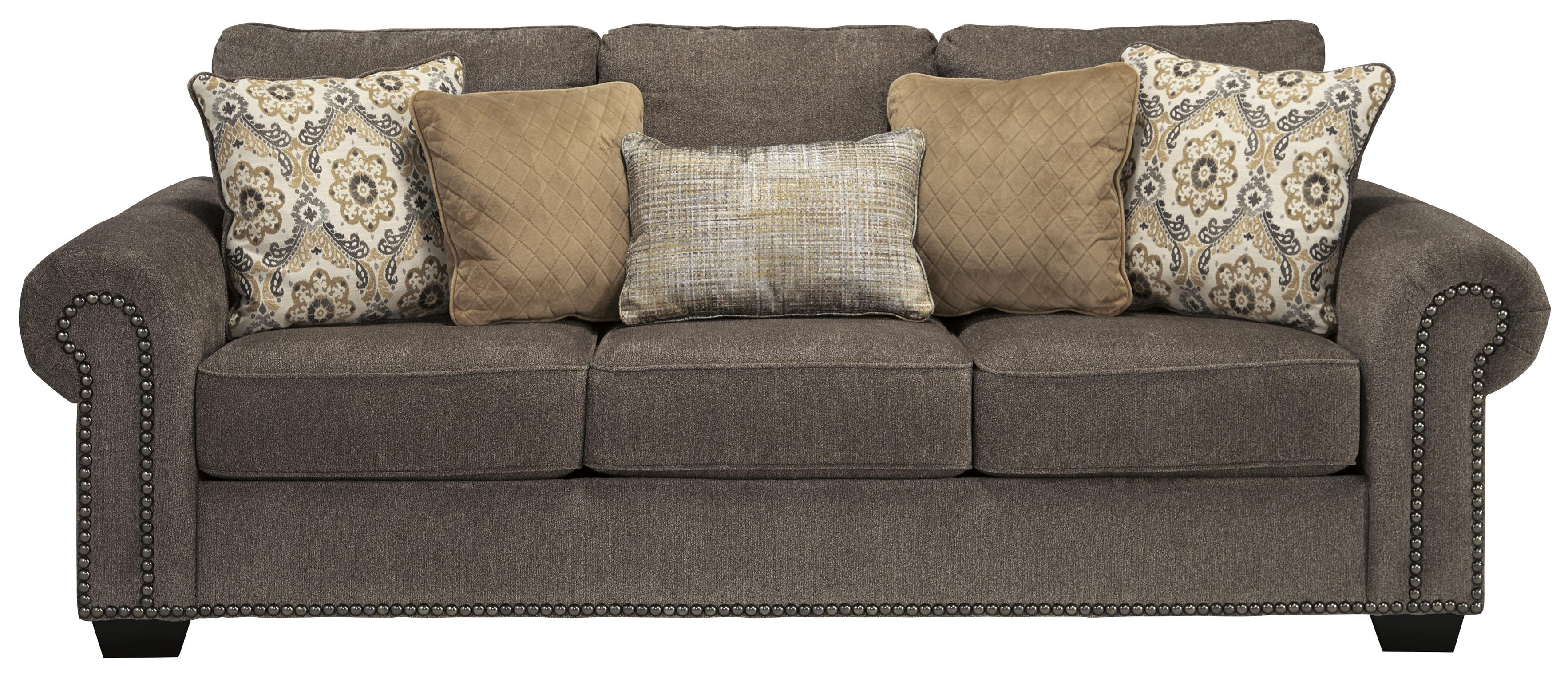 sofa deals nj project bristol opening hours benchcraft emelen transitional with nailhead trim
