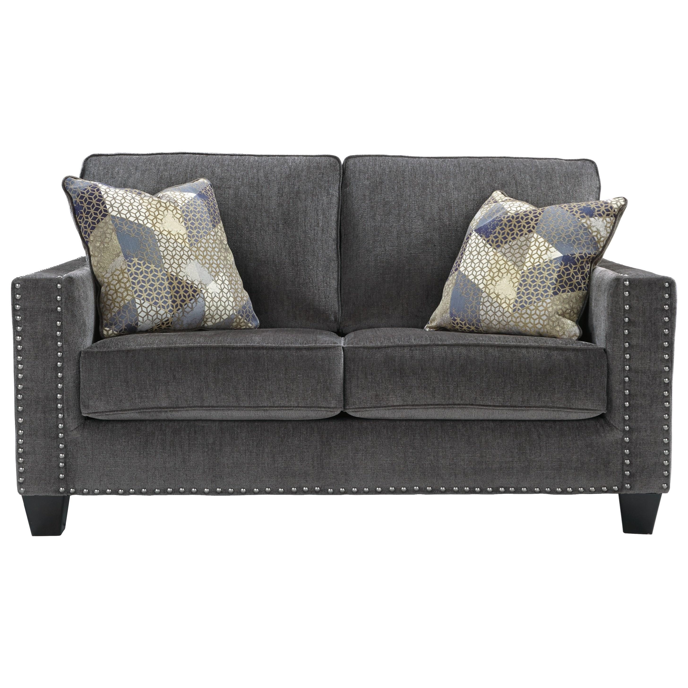 nailhead trim sofa ashley rv air sleeper benchcraft by gavril contemporary loveseat with