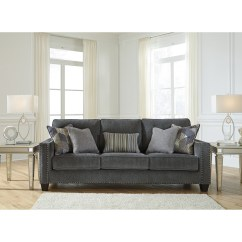 Nailhead Trim Sofa Ashley Bed Grey Benchcraft By Gavril Contemporary With