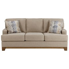 Contemporary Sofa With Wood Trim Rockers S Simon Exposed Front Rail