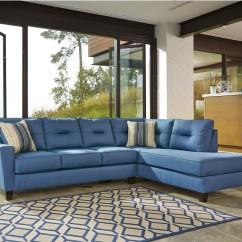 Blue Leather Sofa Canada Kedai Repair Shah Alam Benchcraft Kirwin Nuvella Sectional With Sleeper
