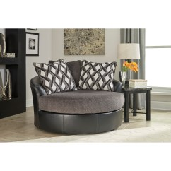Oversized Living Room Chair Discount Outdoor Cushions Benchcraft By Ashley Kumasi Contemporary Fabric Faux