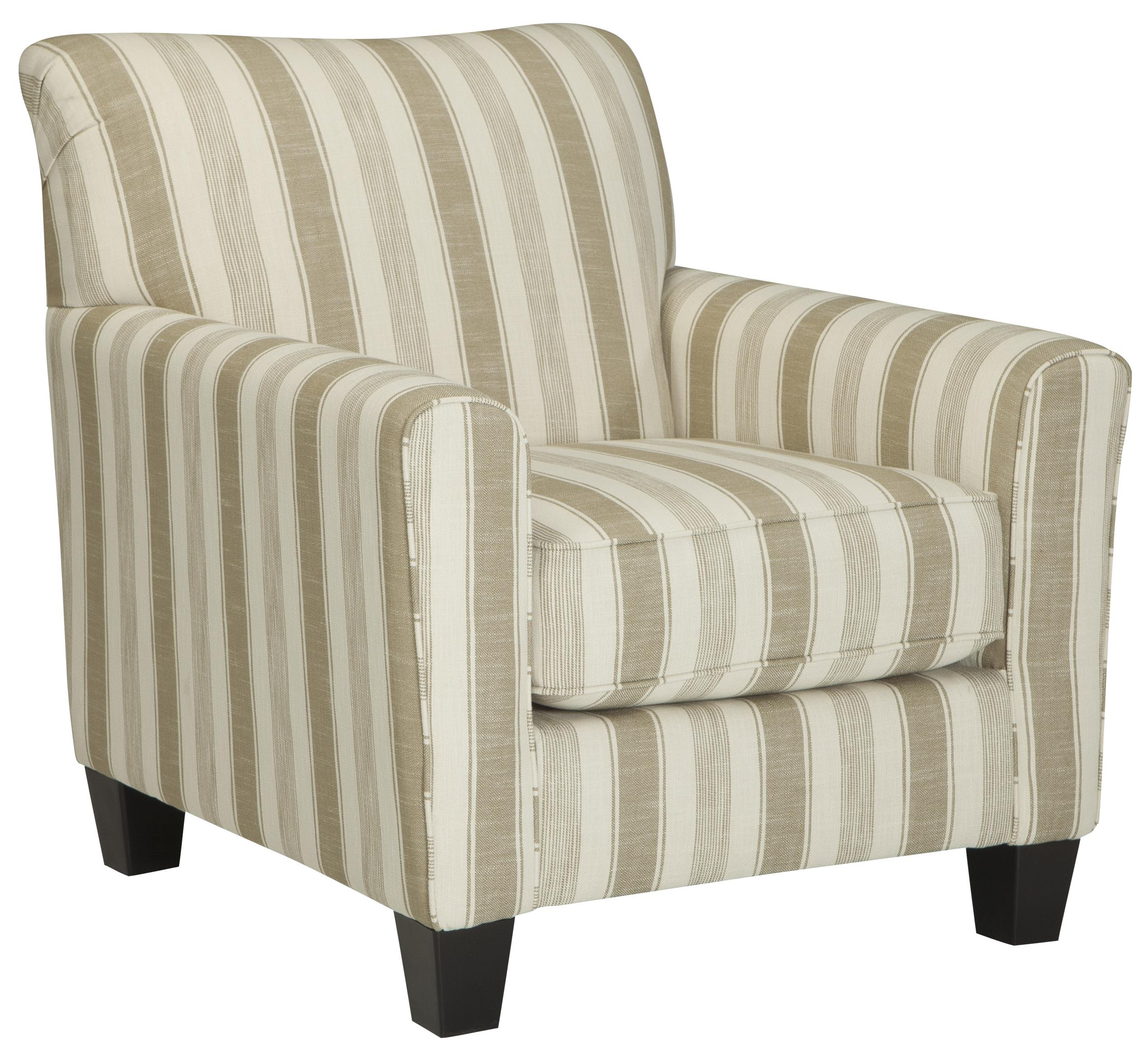 fabrics for chairs striped dining chair seat height benchcraft laryn accent with neutral stripe fabric