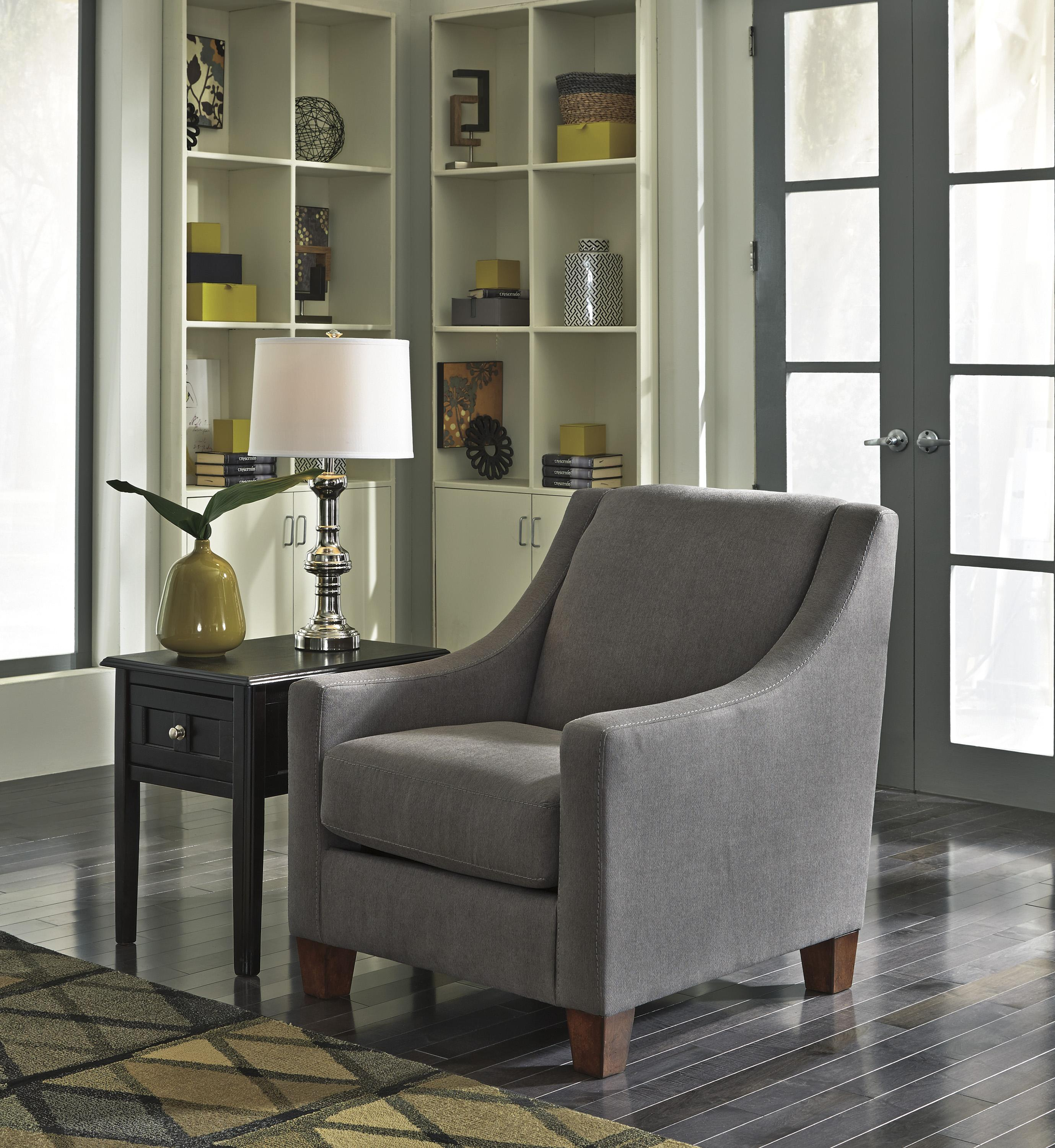 contemporary accent chairs with arms revolving kitchen chair benchcraft by ashley maier charcoal