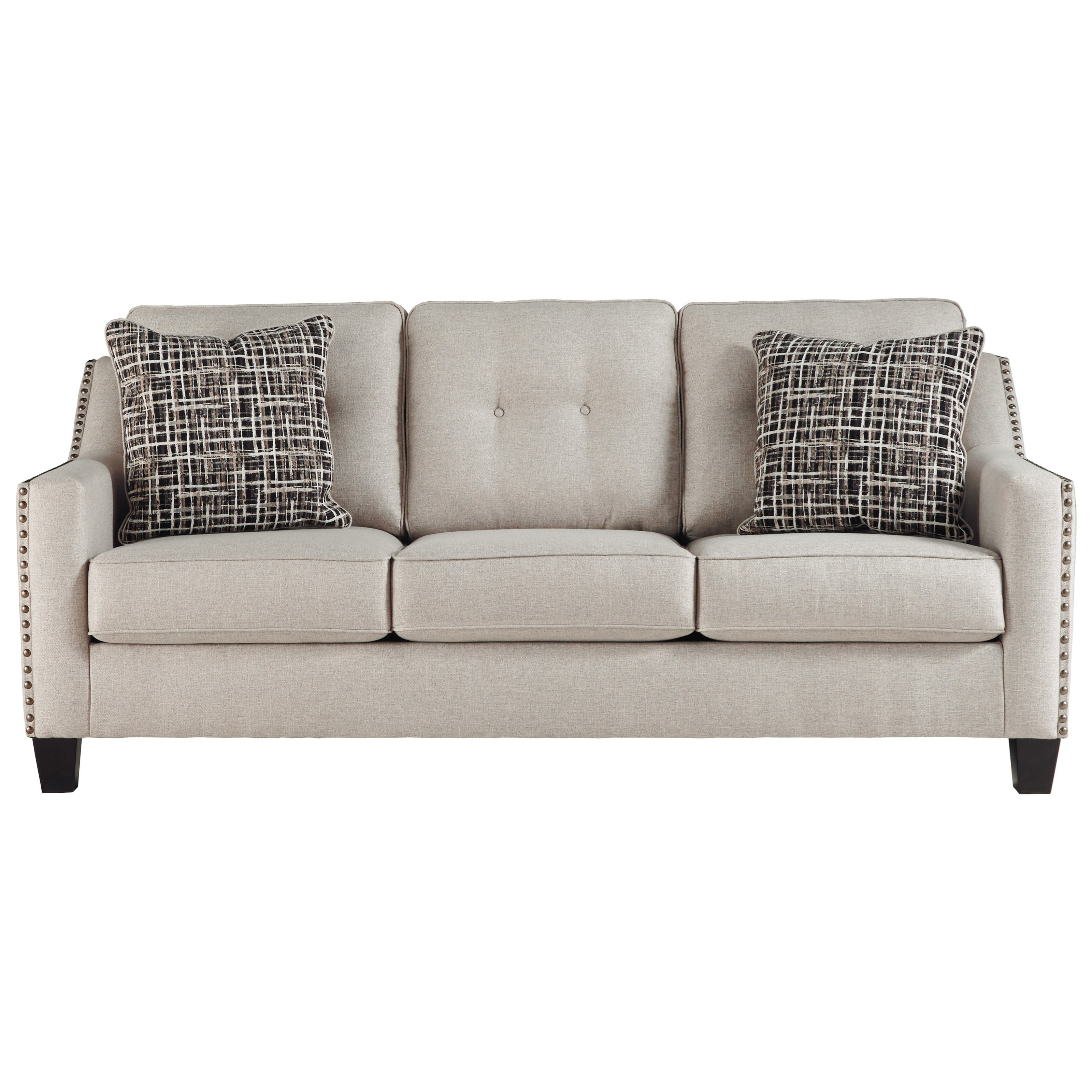 nailhead trim sofa ashley z gallerie harrison reviews benchcraft by marrero contemporary with