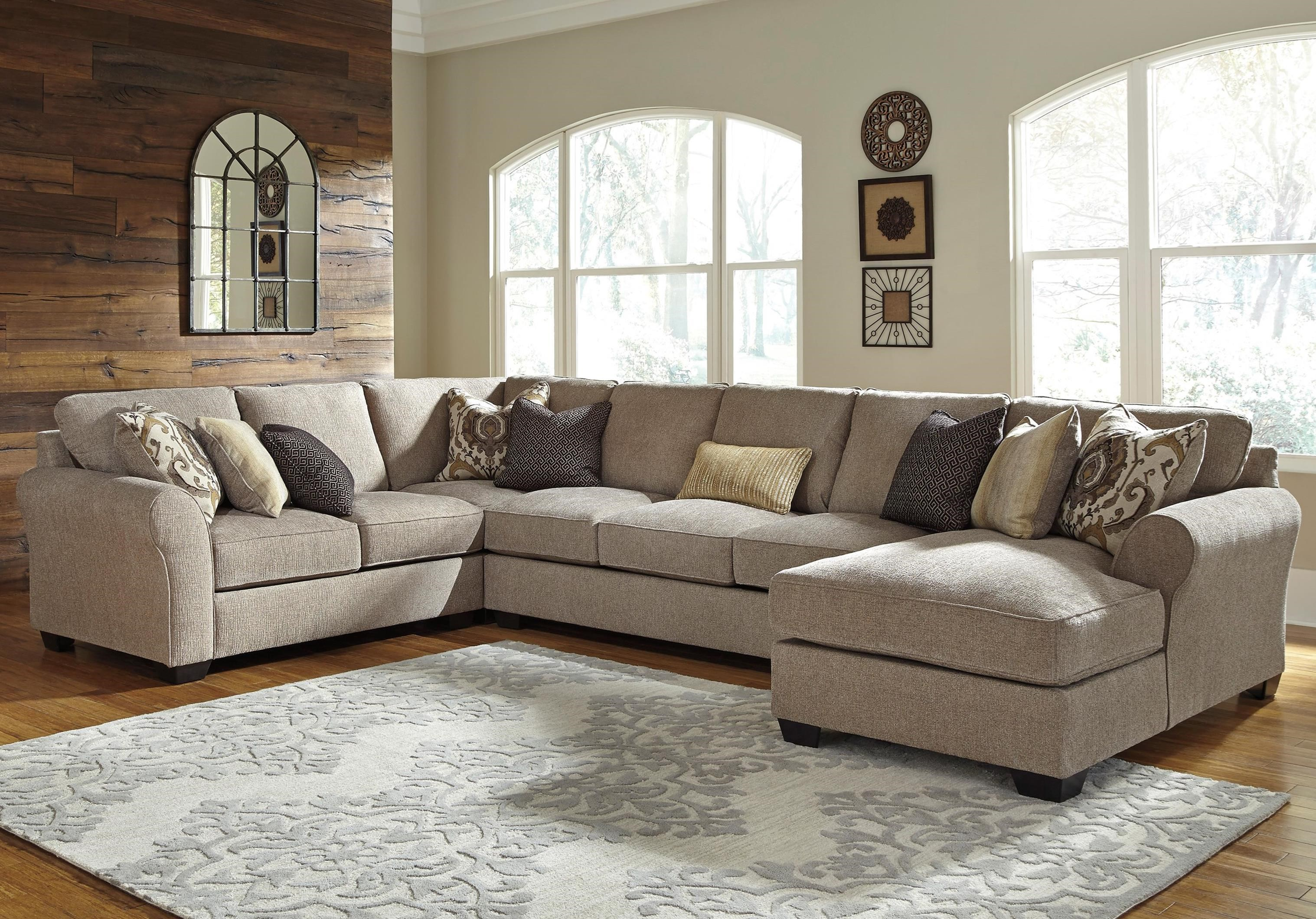 4 piece recliner sectional sofa buy cushions online pantomine with right chaise and armless