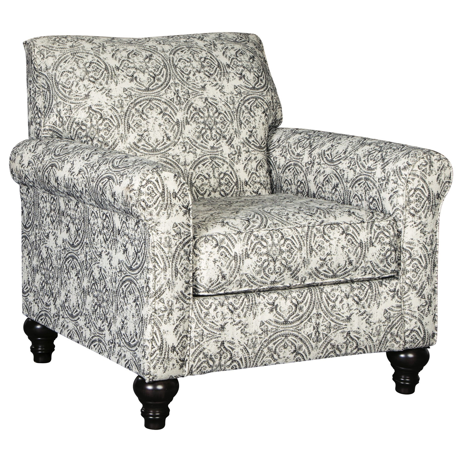 traditional accent chairs blue jean chair covers benchcraft praylor 4890121 gill