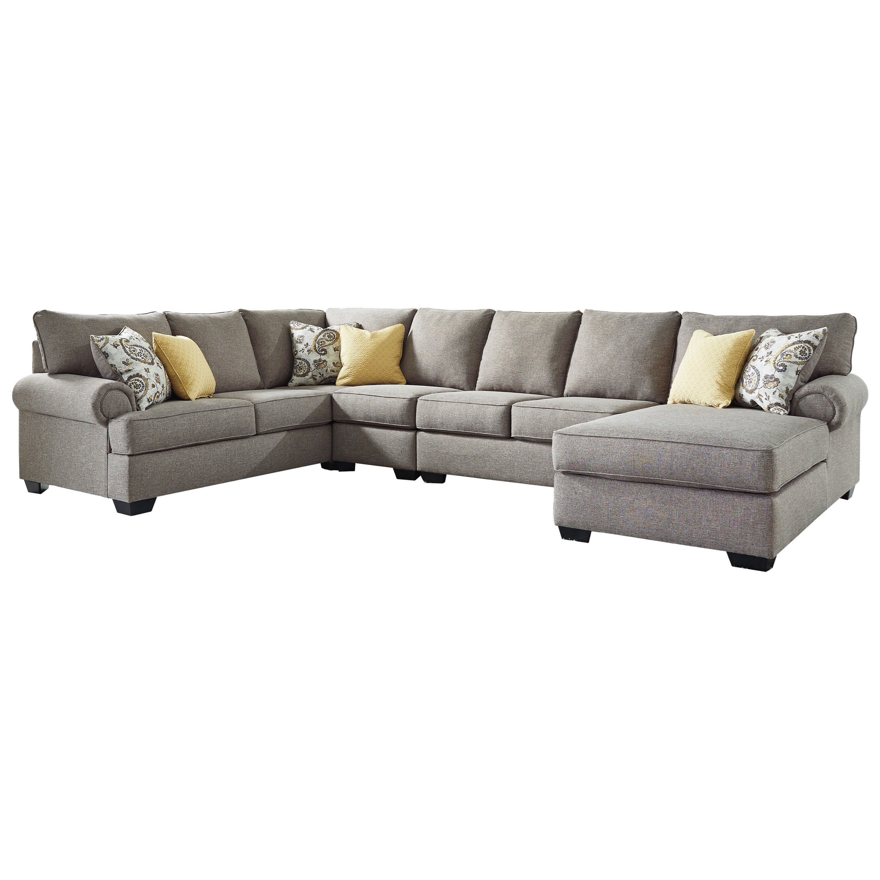 4 piece recliner sectional sofa colorful sofas for sale benchcraft by ashley renchen casual