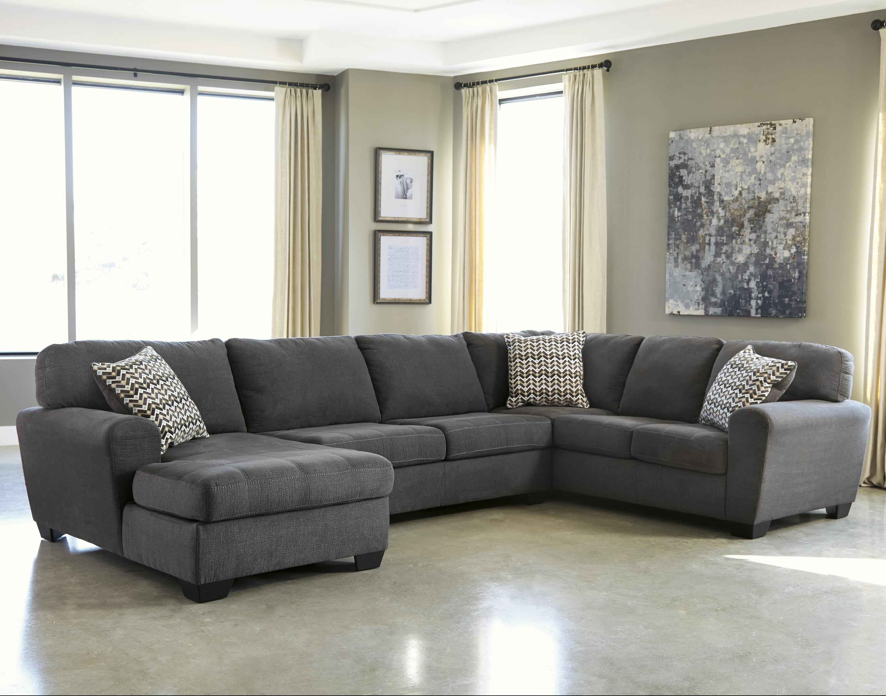 jamestown 2 piece sofa and loveseat group in gray seats chennai theatres benchcraft sorenton contemporary 3 sectional with