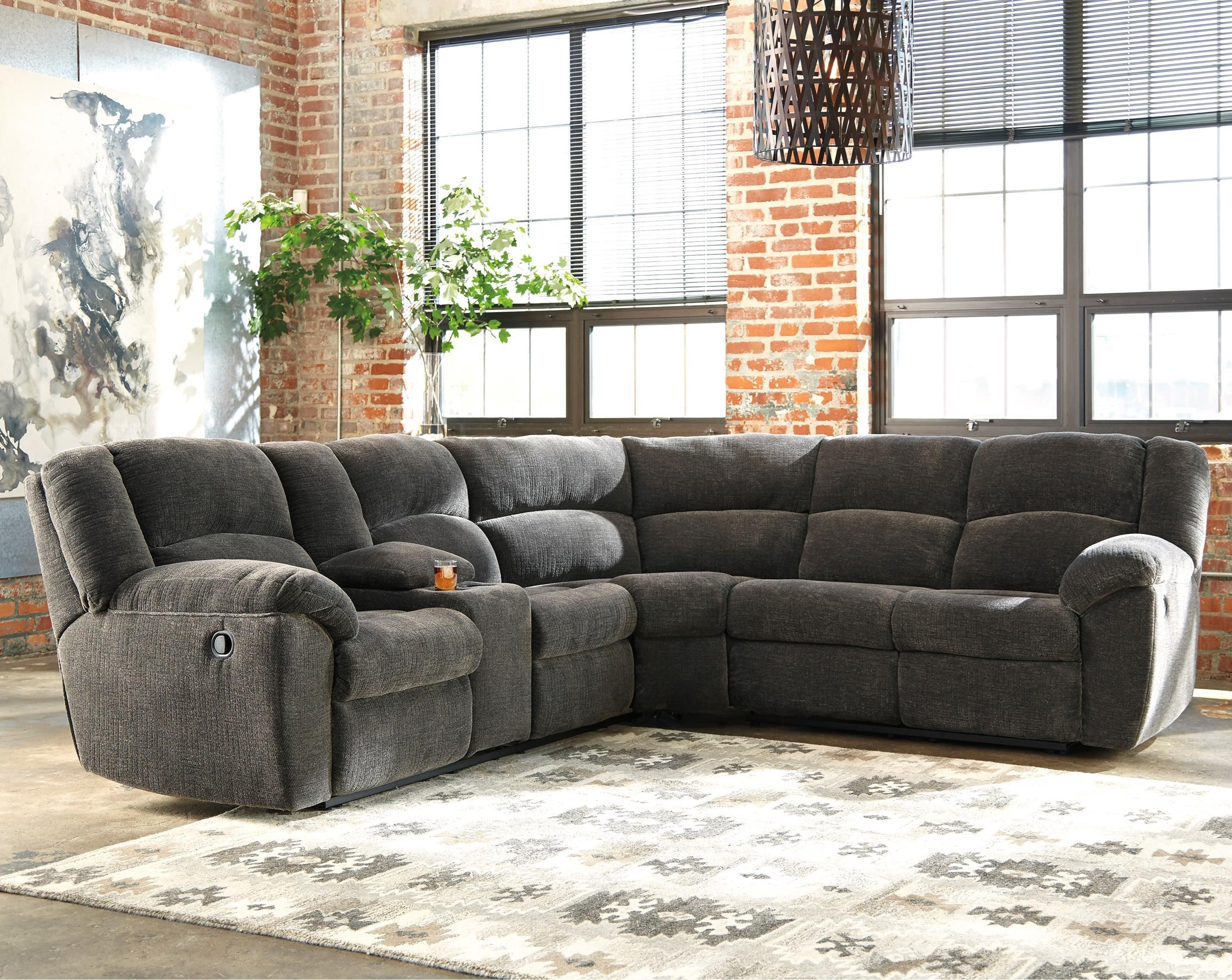 reclinable sectional sofas antique furniture sofa benchcraft timpson reclining with storage