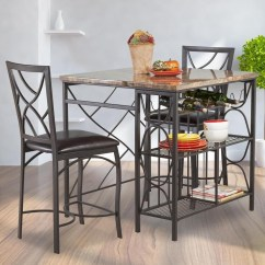 Kitchen Island Table With Chairs Towel Rack Bernards Ayden 3 Piece Counter Set Royal