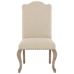 Upholstered Chair With Nailhead Trim Cast Aluminum Patio Chairs Bernhardt Campania Side