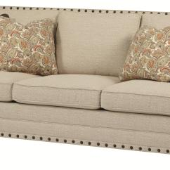Sofa Nailhead Sacha Large Leather Bed Bernhardt Cantor With Nail Head Trim And Low Set Arms
