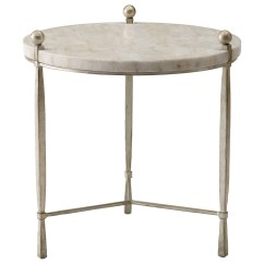 Chair Side End Table Wedding Covers Hire Teesside Bernhardt Clarion Round Chairside With Stone Top