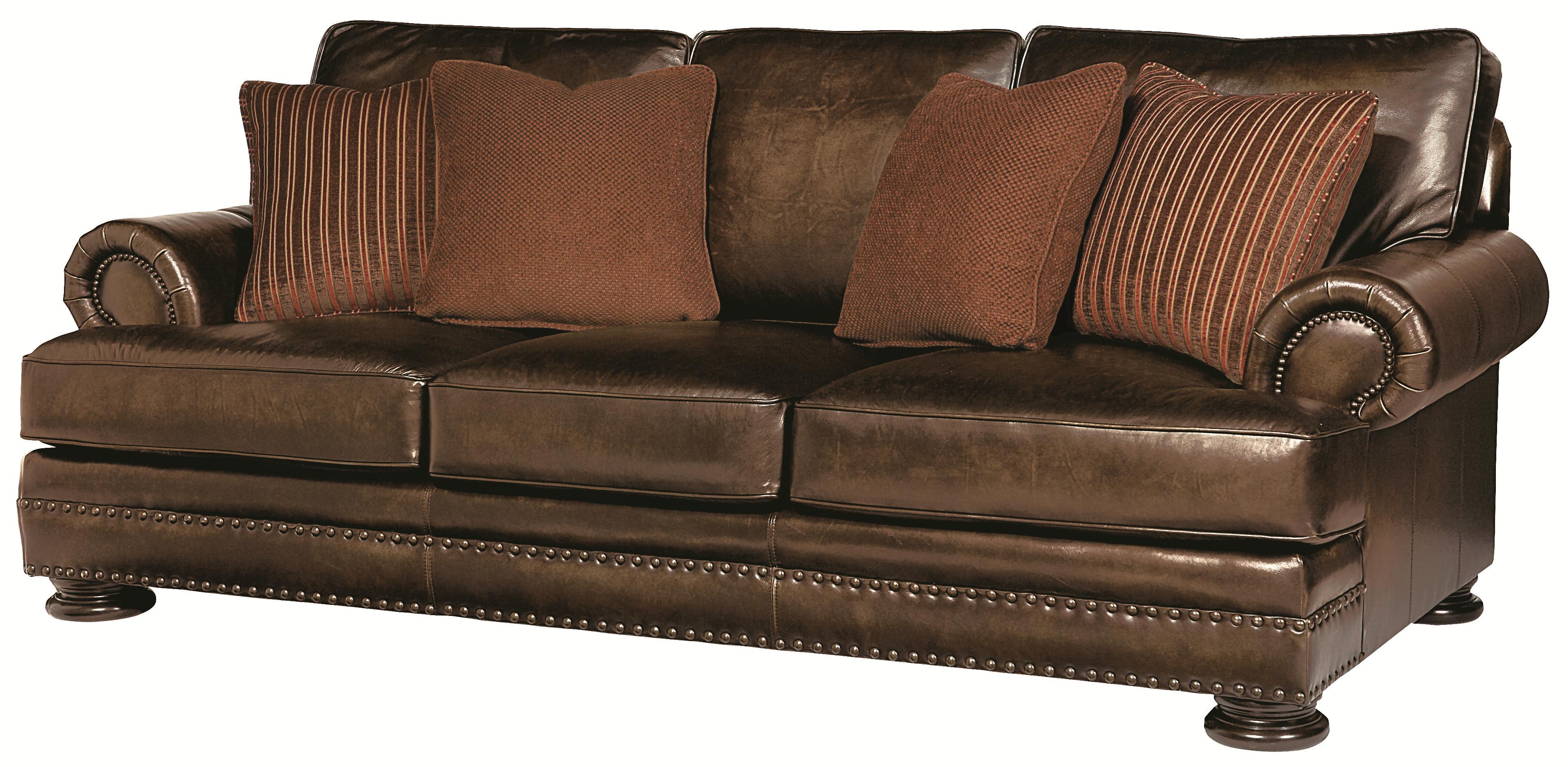 bernhardt leather sofas renata sofa foster walnut raymour flanigan