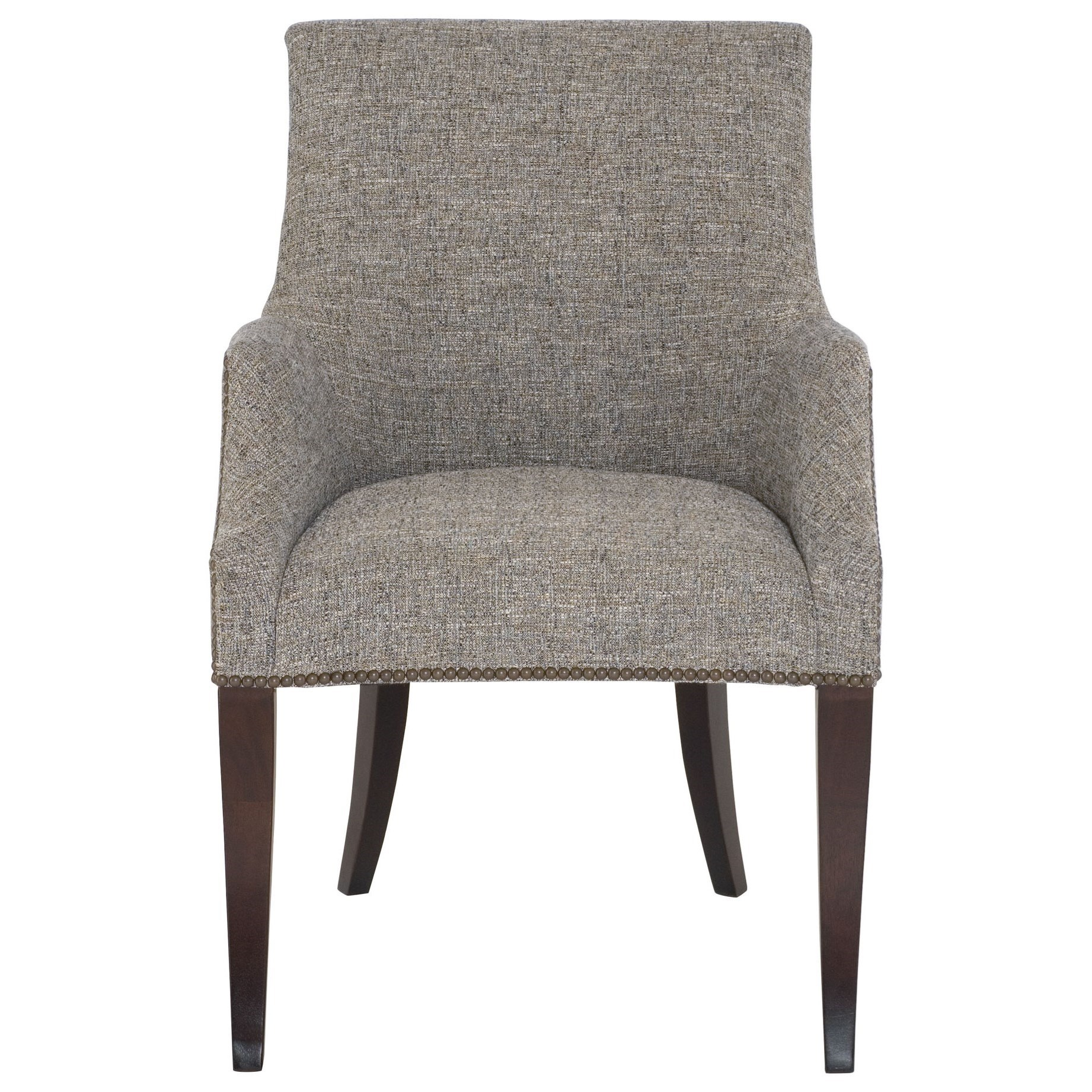 upholstered dining room chairs with arms victorian for sale bernhardt keeley arm chair nail