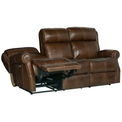 Caruso Leather 5 Piece Power Motion Sectional Sofa Camas Place Panama Bernhardt Mcgwire 297rl Reclining With