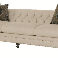 Bernhardt Riviera Large Sofa Crochet Cover Patterns With Tufted Back And Nailhead Trim