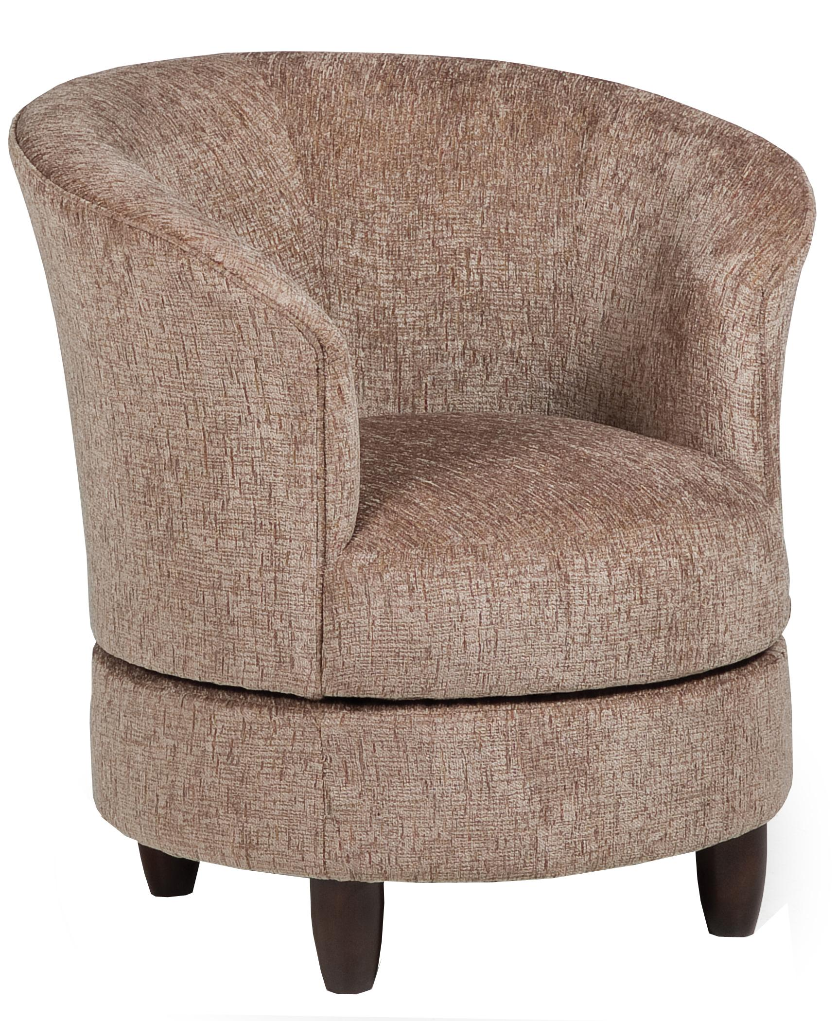 Barrell Chair Best Home Furnishings Accent Chairs Swivel Barrel Chair