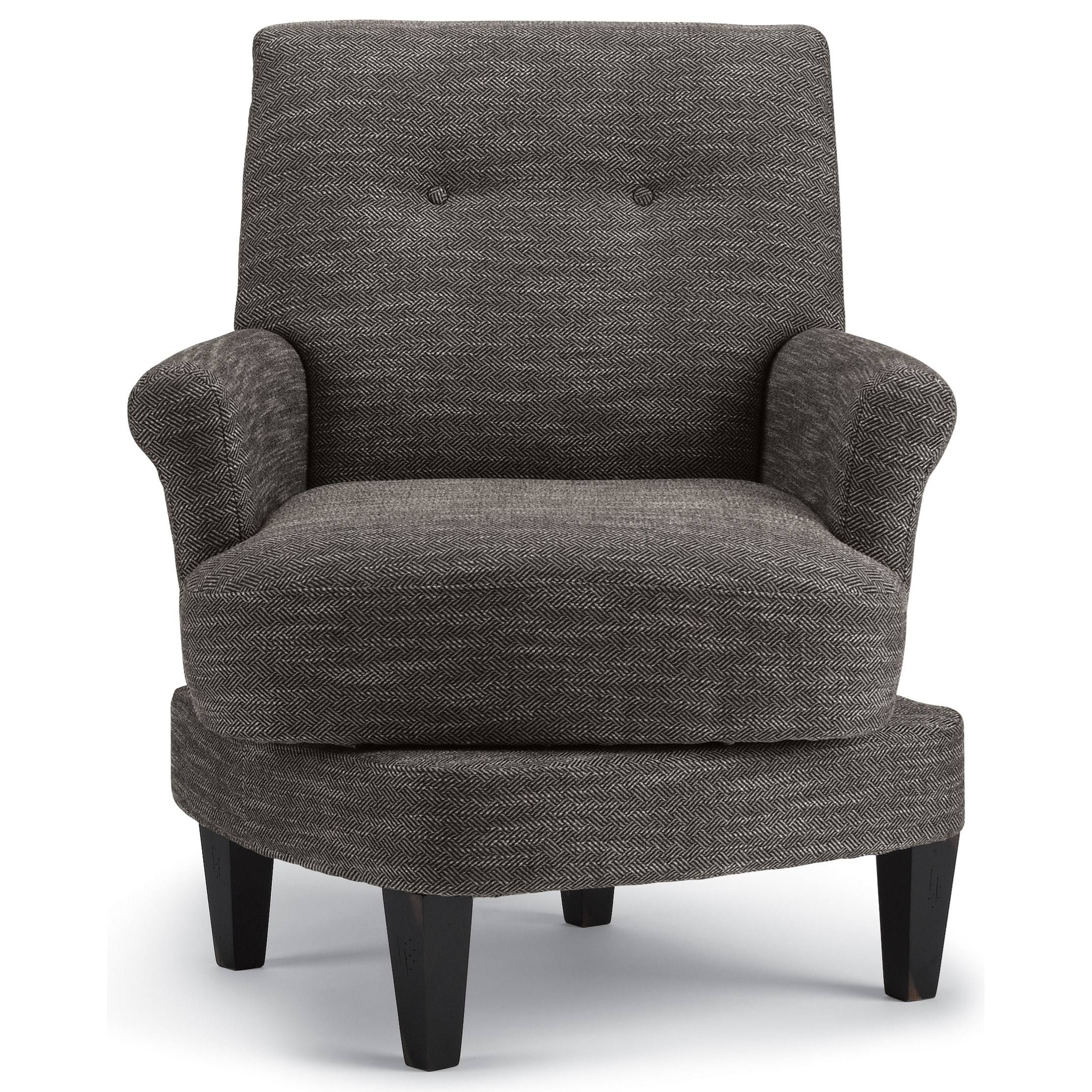 Black Barrel Chair Best Home Furnishings Cerise Transitional Swivel Barrel