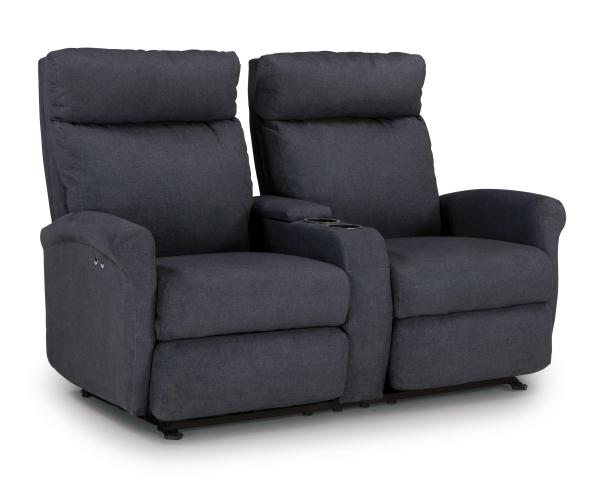 Best Home Furnishings Reclining Loveseats with Console