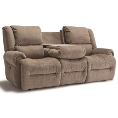 Microfiber Reclining Sofa With Drop Down Table Bassett Mission Style Leather Best Home Furnishings Genet Power Space Saver