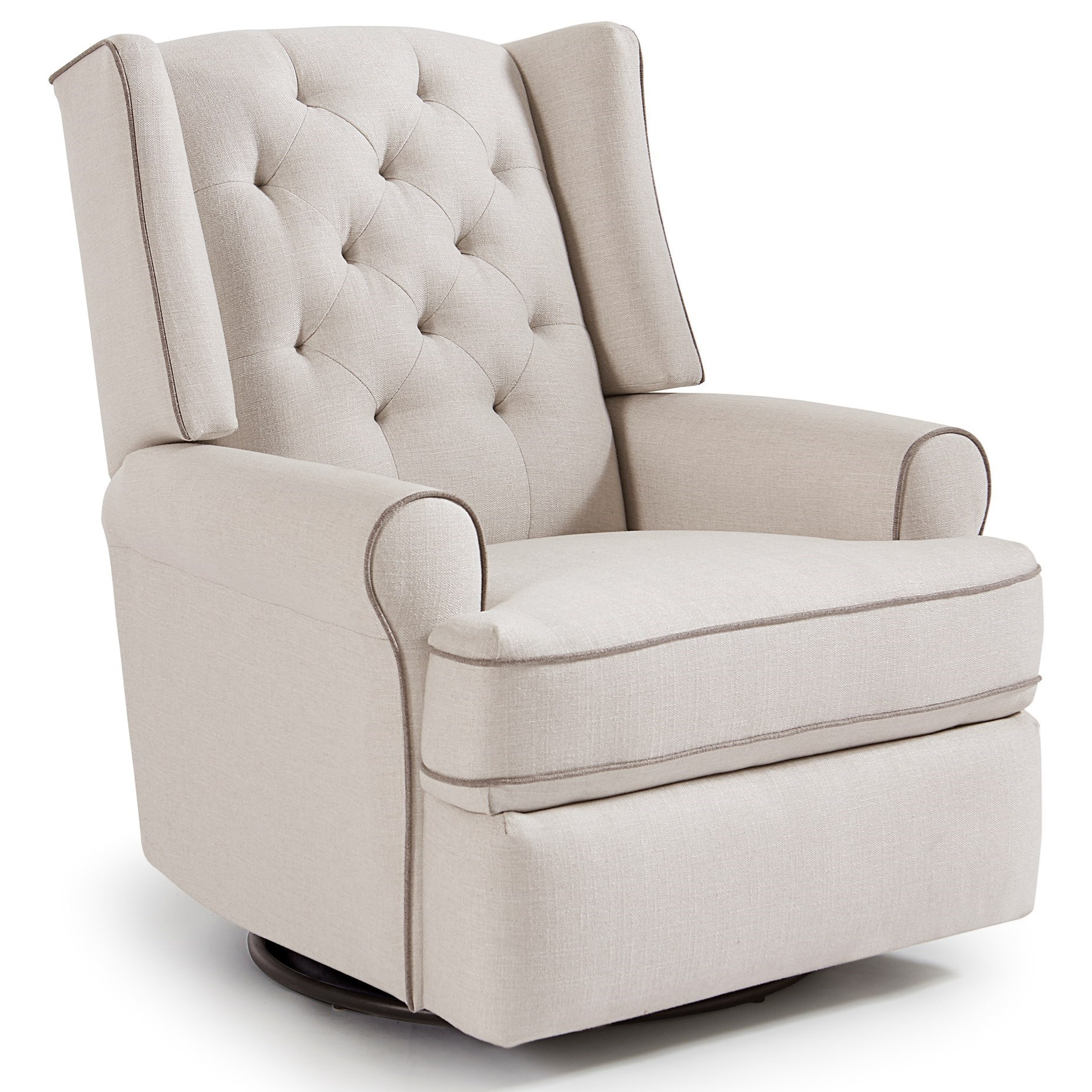 Rooms To Go Swivel Chair Vendor 411 Kendra 5ni85 Traditional Tufted Swivel Glider