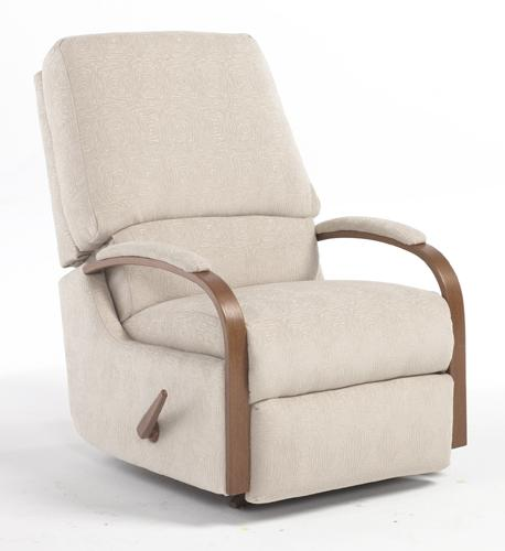 Recliners  Medium Pike Swivel Rocking Reclining Chair by