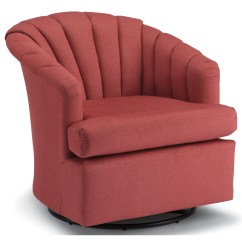 Barrel Swivel Chairs Upholstered Small Round Outdoor Chair Cushions Best Home Furnishings Clayton