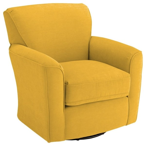 Upholstered Swivel Barrel Chairs