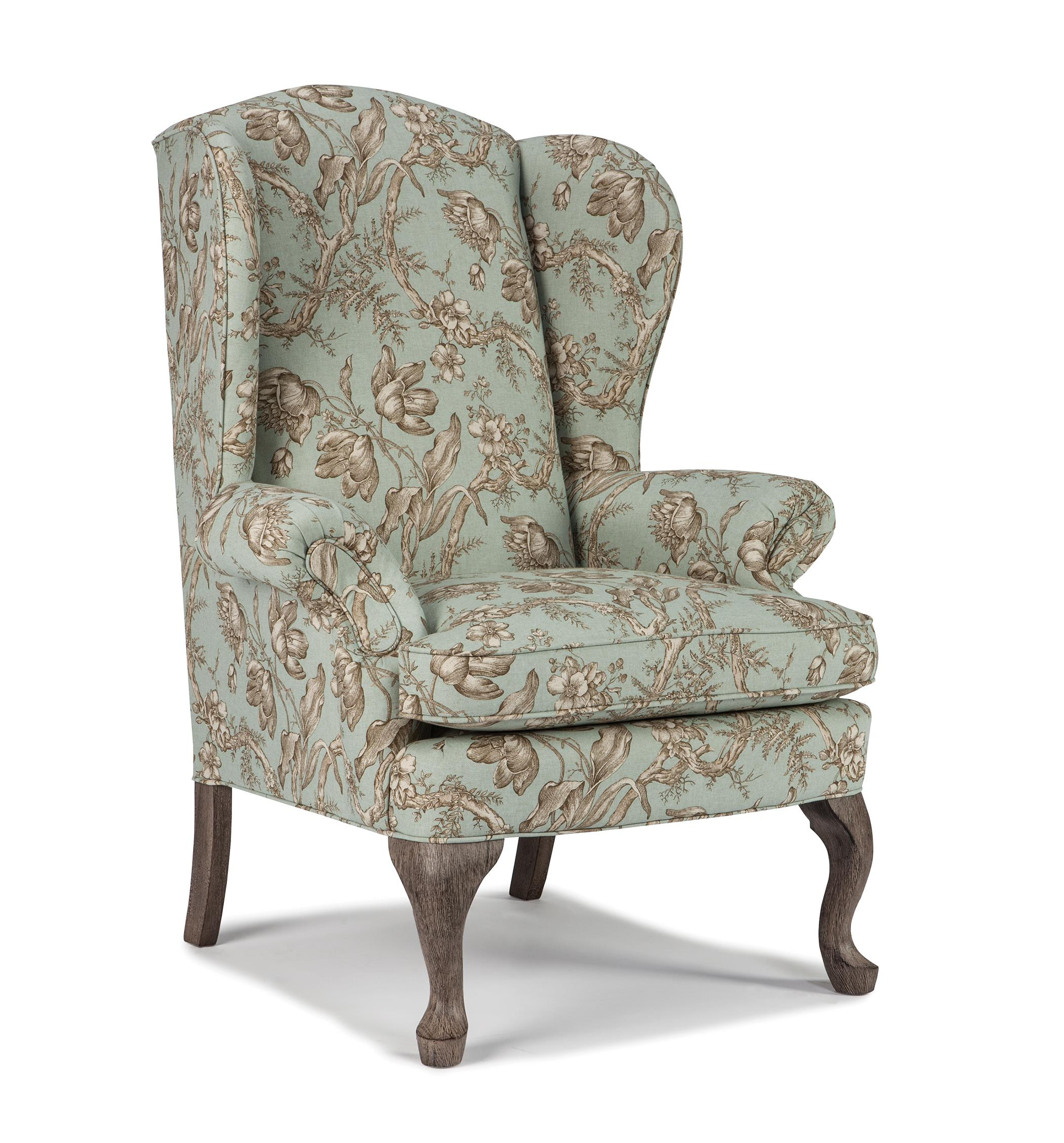 Queen Anne Wingback Chair Best Home Furnishings Chairs Wing Back Sylvia Wing Back