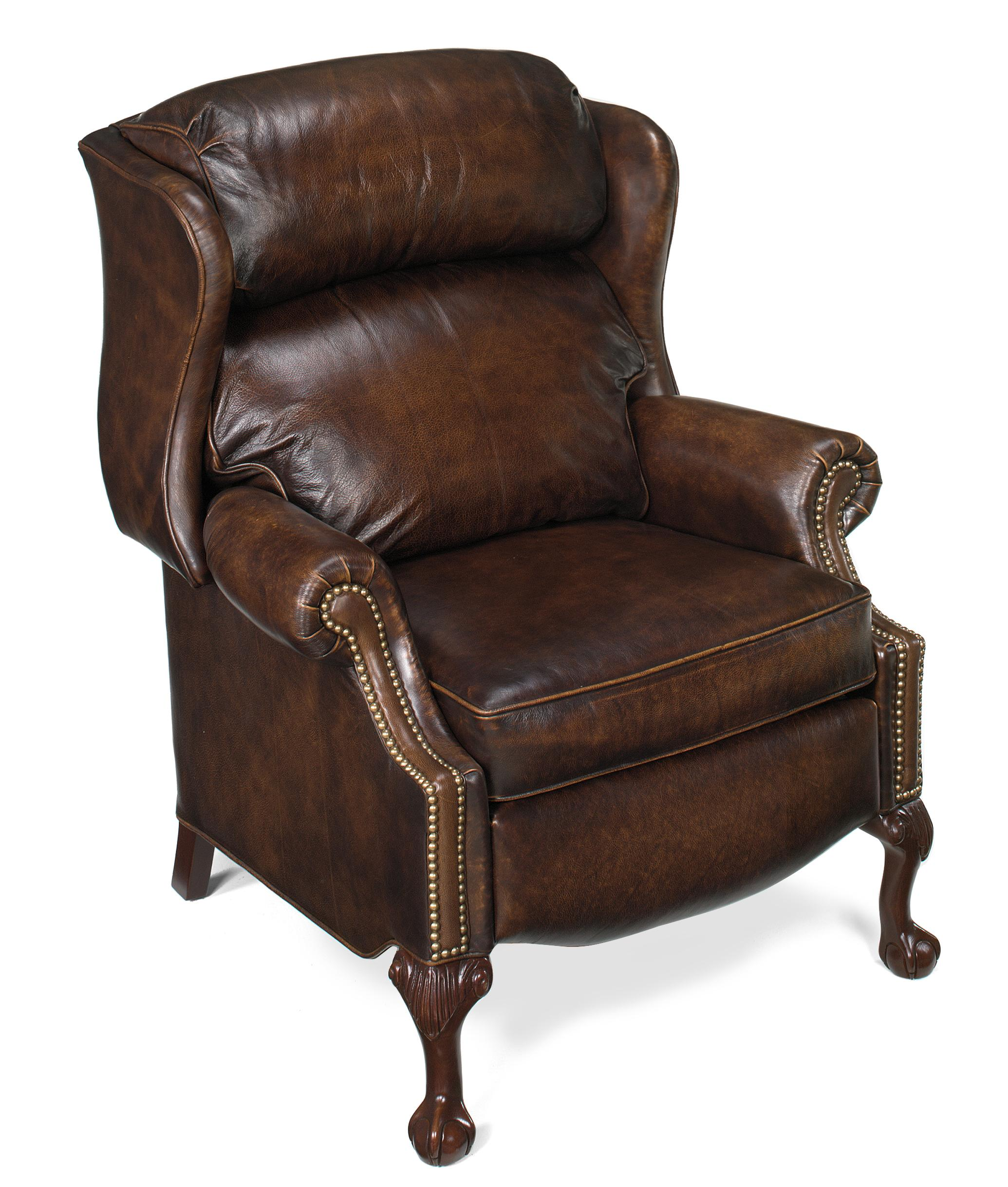 reclining wingback chair best type of after back surgery bradington young chairs that recline ball and claw power