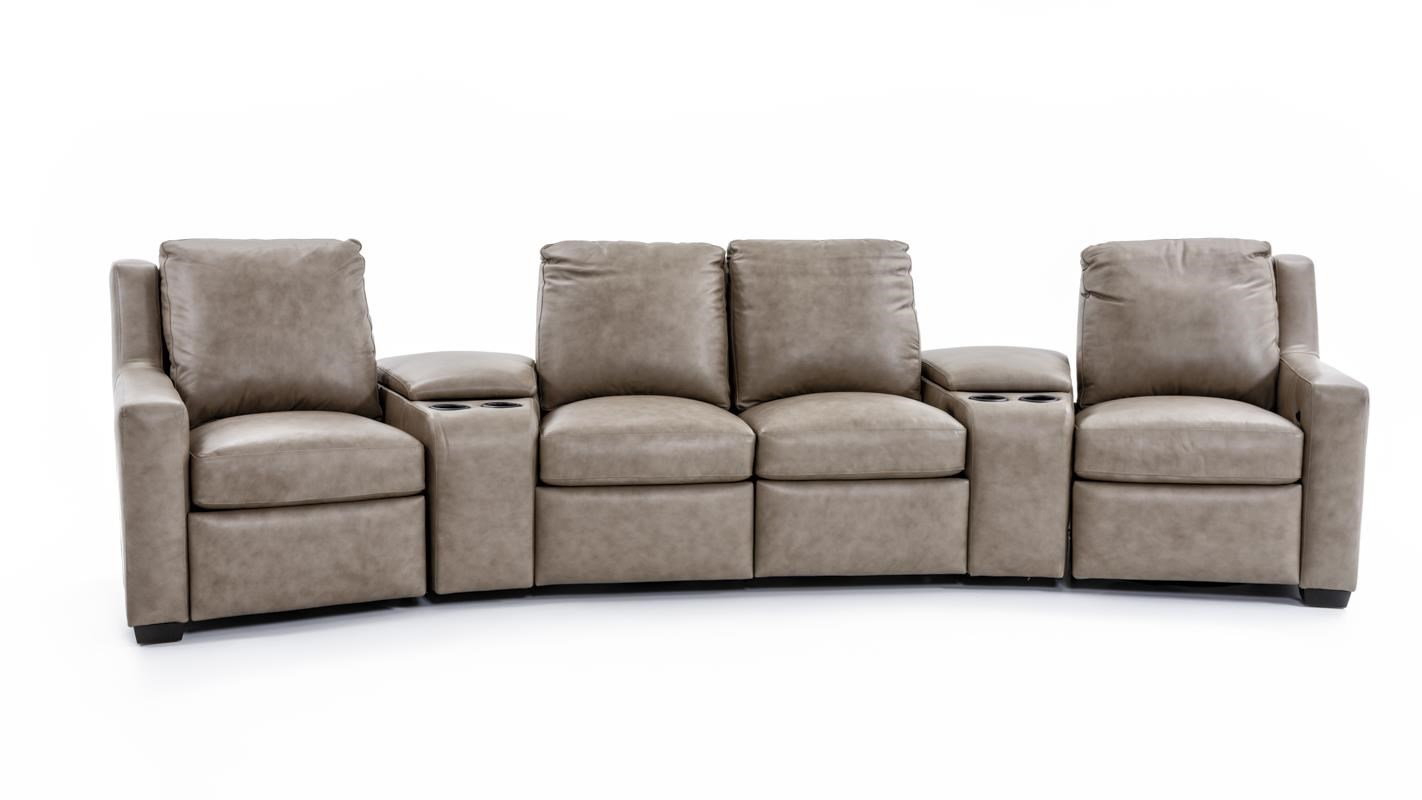 3 pc sectional sofa with recliners glass table shelf bradington young connery 922 three piece sect
